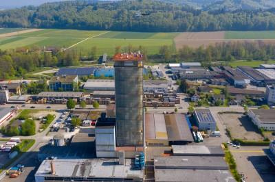Flachdach Lumolith Turm Burgdorf